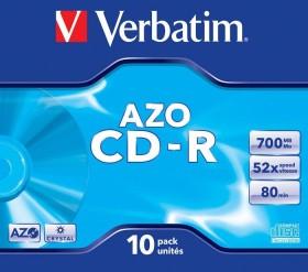 Verbatim Azo CD-R 80min/700MB 52x, 10er Jewelcase (43327)