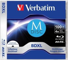 Verbatim M-DISC BD-R XL 100GB 4x, 1er Jewelcase (43833)