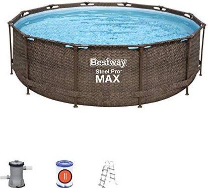 Bestway Steel Pro Frame Pool Set Rattan 366x100cm (56709) -- via Amazon Partnerprogramm
