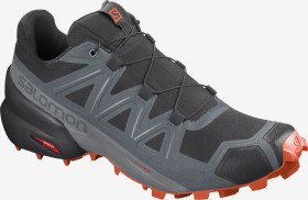 Salomon Speedcross 5 black/stormy weather/red orange (Herren) (411166)