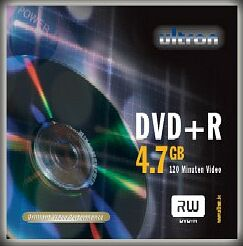 Ultron DVD+R 4.7GB, 25-pack
