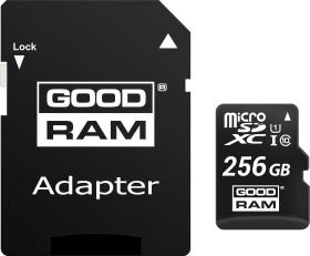 goodram M1AA R100 microSDXC 256GB Kit, UHS-I U1, Class 10 (M1AA-2560R12)