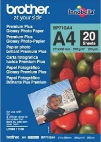 Brother Premium Plus photo paper glossy A4, 260g/m², 20 sheets (BP71GA4)