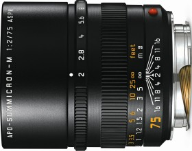 Leica APO-Summicron-M 75mm 2.0 ASPH schwarz (11637)