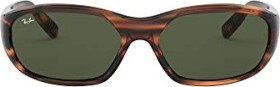 Ray-Ban RB2016 Daddy-O II 59mm red striped-havana/green classic (RB2016-820/31)