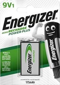 Energizer Accu Recharge Power Plus 9V-Block NiMH 175mAh