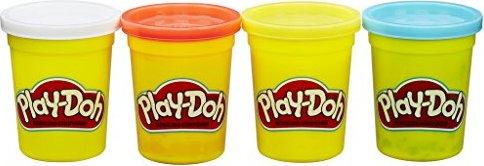 Hasbro Play-Doh 4er Töpfchen Grundfarben