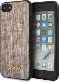 Guess Lizard Print Case für Apple iPhone SE (2020) gold (GUHCI8PCUMLLIGO)