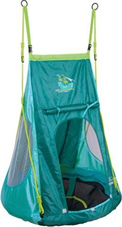 Hudora aluminum nest swing with tent Pirate 90 (72152)