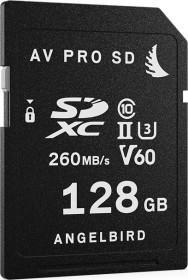 Angelbird AV PRO SD MK2 V60 R280/W160 SDXC 128GB, UHS-II U3, Class 10 (AVP128SDMK2V60)