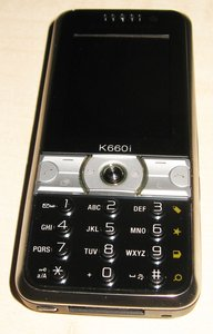 Sony Ericsson K660i -- this photo became freundlicherweise of einem Nutzer for disposal putting