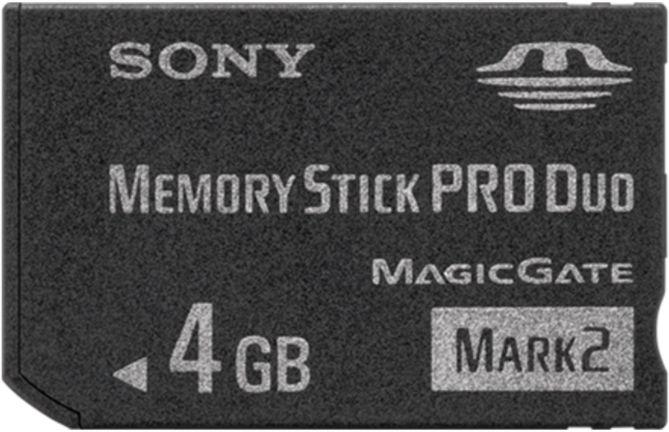 Sony Memory Stick (MS) Pro Duo Mark2 4GB (MSMT4G)