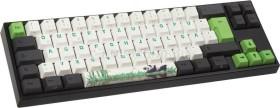 Ducky Miya Pro Panda Edition PBT, schwarz, Tasten weiß/grün, LEDs weiß, MX RED, USB, DE (MY69NR1W/LLPaNDg)