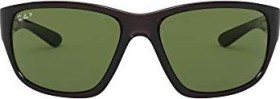 Ray-Ban RB4300 63mm grey-transparent/green classic (RB4300-705/O9)