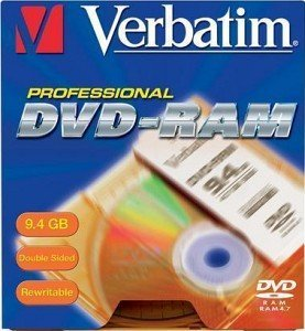 Verbatim DVD-RAM double sided 9.4GB  1x,  5er Cartridge T4 (43121)