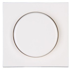 Kopp HK07 Dimmer-Abdeckung für Druck-Wechseldimmer, reinweiß (490629006)