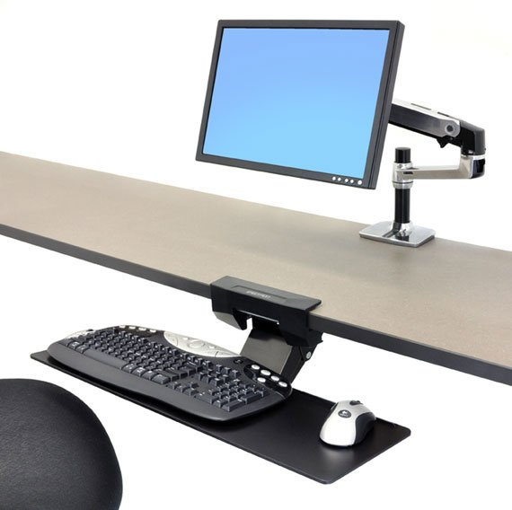 Ergotron Neo-Flex undertable keyboard swivel arm (97-582-009)