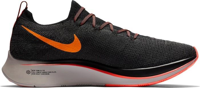 e3bb102ae522 Nike zoom Fly Flyknit black orange peel moon particle flash crimson (men