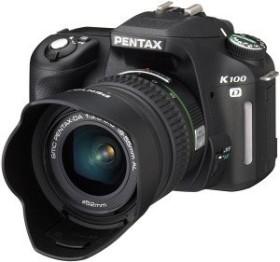 Pentax K100D schwarz mit Objektiv DA 18-55mm und DA 50-200mm (1901601)