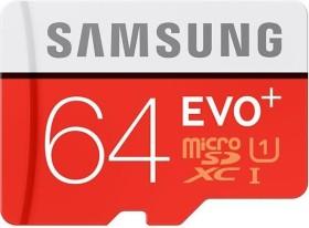 Samsung EVO+ R80/W20 microSDXC 64GB Kit, UHS-I, Class 10 (MB-MC64DA/EU)