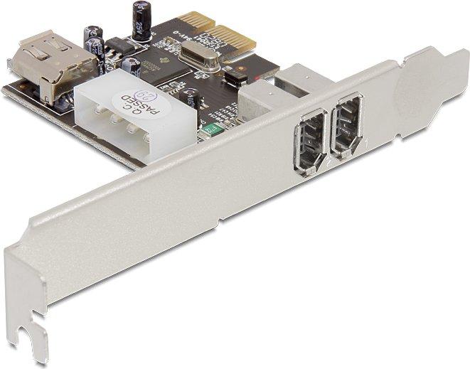 DeLOCK 2x FireWire extern/1x FireWire intern, PCIe x1 (89121)