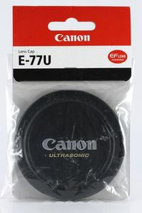 Canon E-77U lens cover (2734A001) -- http://bepixelung.org/12791