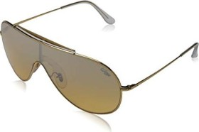 Ray-Ban RB3597 Wings 133mm gold/orange-silver gradient mirror (RB3597-9050Y1)
