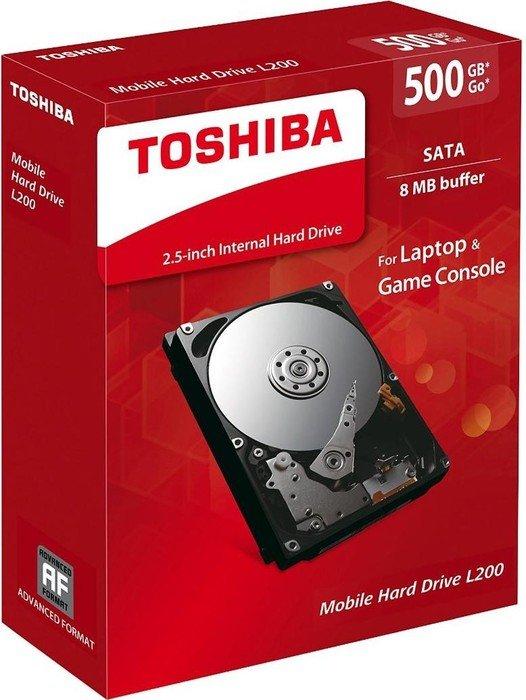 Toshiba L200 500GB, SATA 3Gb/s, retail (HDWJ105EZSTA)