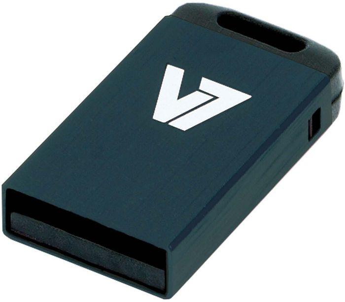 V7 Nano USB stick black 8GB, USB-A 2.0 (VU28GCR-BLK-2N)