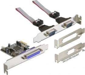 DeLOCK 2x seriell/1x parallel, PCIe x1 (89129)