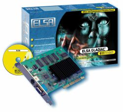 Elsa Gladiac 511TV-OUT, GeForce2 MX/400, 64MB, TV-out, AGP, Bulk (60372)