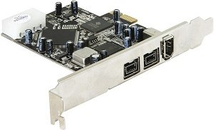 DeLOCK 2x FireWire 800/1x FireWire, PCIe x1 (89109/89153)