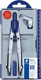 Staedtler Noris Club 550 Schulzirkel Metall mit Mittelrad, Universaladapter, silber/blau (550 01)