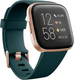 Fitbit Versa 2 Aktivitäts-Tracker emerald/copper rose (FB507RGPE)