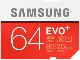 Samsung EVO+ R80/W20 SDXC 64GB, UHS-I, Class 10 (MB-SC64D/EU)