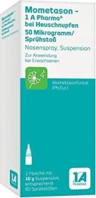 1A Pharma Mometason bei Heuschnupfen Nasenspray, 10g