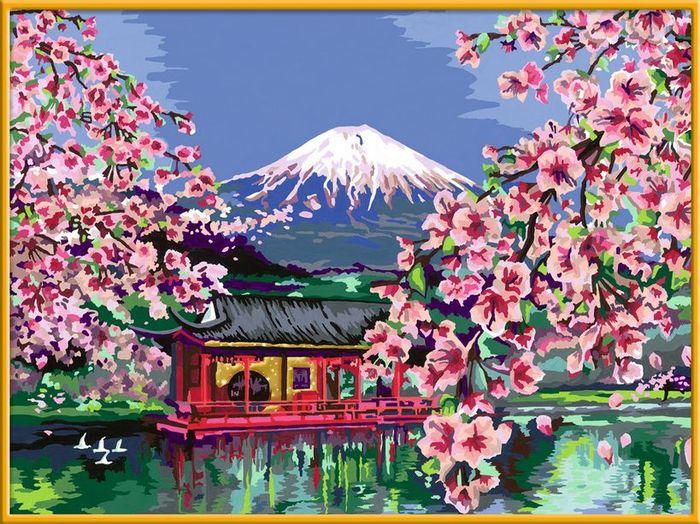 Ravensburger Malen Nach Zahlen Japanische Kirschblüte 28841