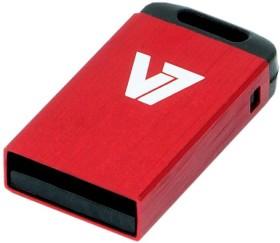 V7 Nano USB-Stick rot 16GB, USB-A 2.0 (VU216GCR-RED-2N)