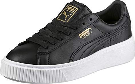 puma basket platform schwarz gold