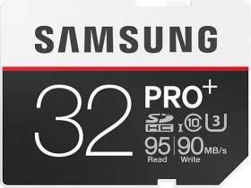 Samsung R95/W90 SDHC PRO+ 32GB, UHS-I U3, Class 10 (MB-SD32D/EU)