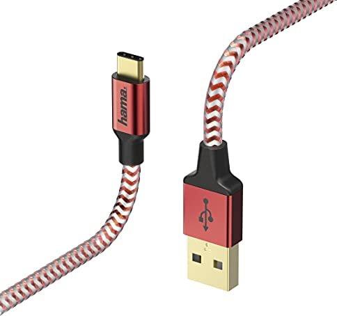 Hama Lade-/Datenkabel Reflective USB-C/USB-A, 1.5m, rot (178296) -- via Amazon Partnerprogramm