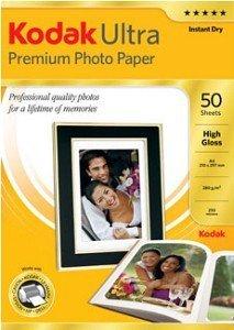 Kodak 3936796 Ultra Premium Fotopapier hochglänzend A4, 285g, 50 Blatt