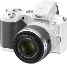 Nikon 1 V2 weiß mit Objektiv VR 10-30mm 3.5-5.6 und VR 30-110mm 3.8-5.6 (VVA112K003)