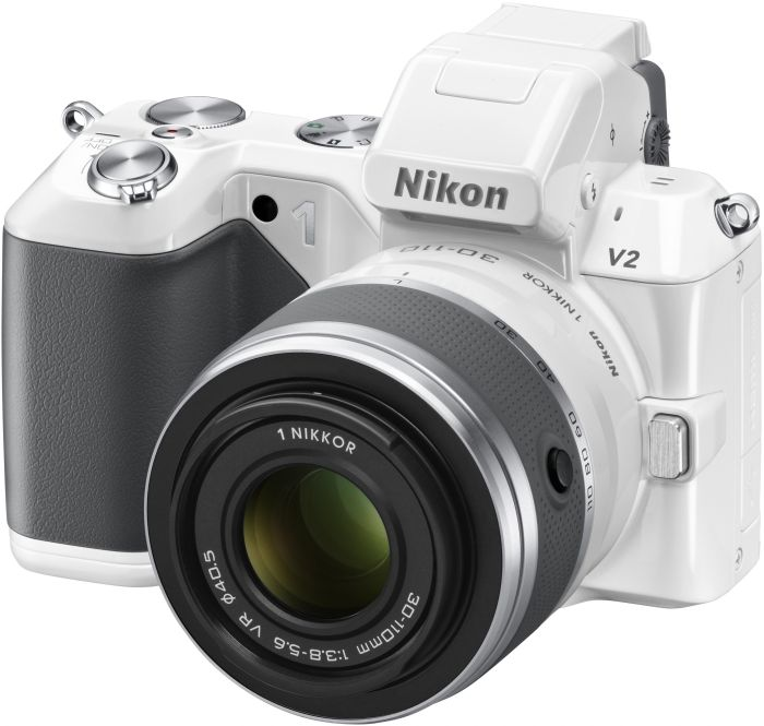 Nikon 1 V2 (EVIL) white with lens VR 10-30mm 3.5-5.6 and VR 30-110mm 3.8-5.6 (VVA112K003)