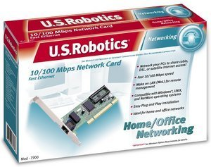 USRobotics 10/100 Mbps network card, 1x 100Base-TX, PCI (USR997900)