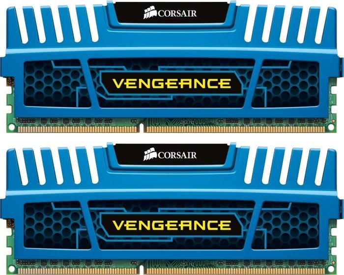 Corsair Vengeance blue DIMM kit 8GB, DDR3-1600, CL8-9-8-24 (CMZ8GX3M2X1600C8B)