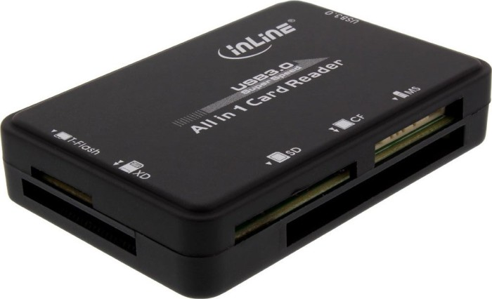 InLine All-in-1 Cardreader schwarz, USB 3.0 (76631C)