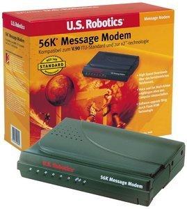 USRobotics 56K V.92 Message Modem, seriell (USR025668B/C)