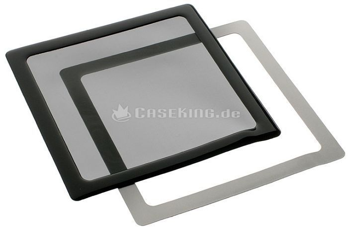 DEMCiflex dust filter 140mm square black/black -- © caseking.de