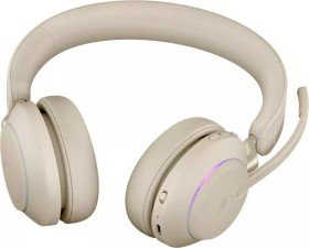 Jabra Evolve2 65 - USB-A UC Stereo with Charging Stand beige (26599-989-988)